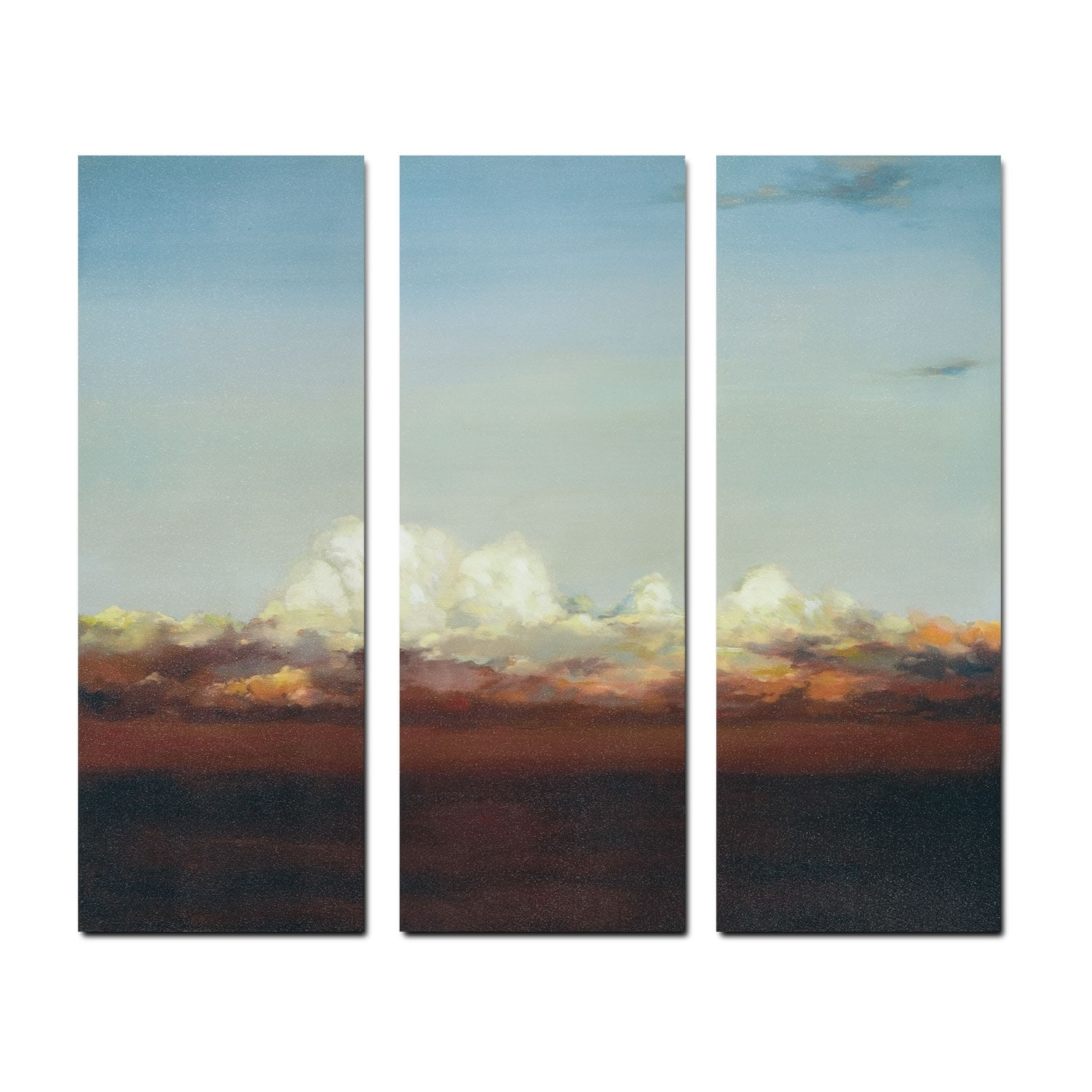Copper Skies 3 Pc. Canvas Print
