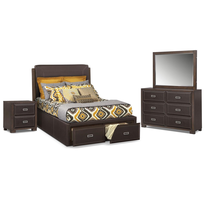 Bedroom Furniture - Mason 6 Pc. Queen Storage Bedroom