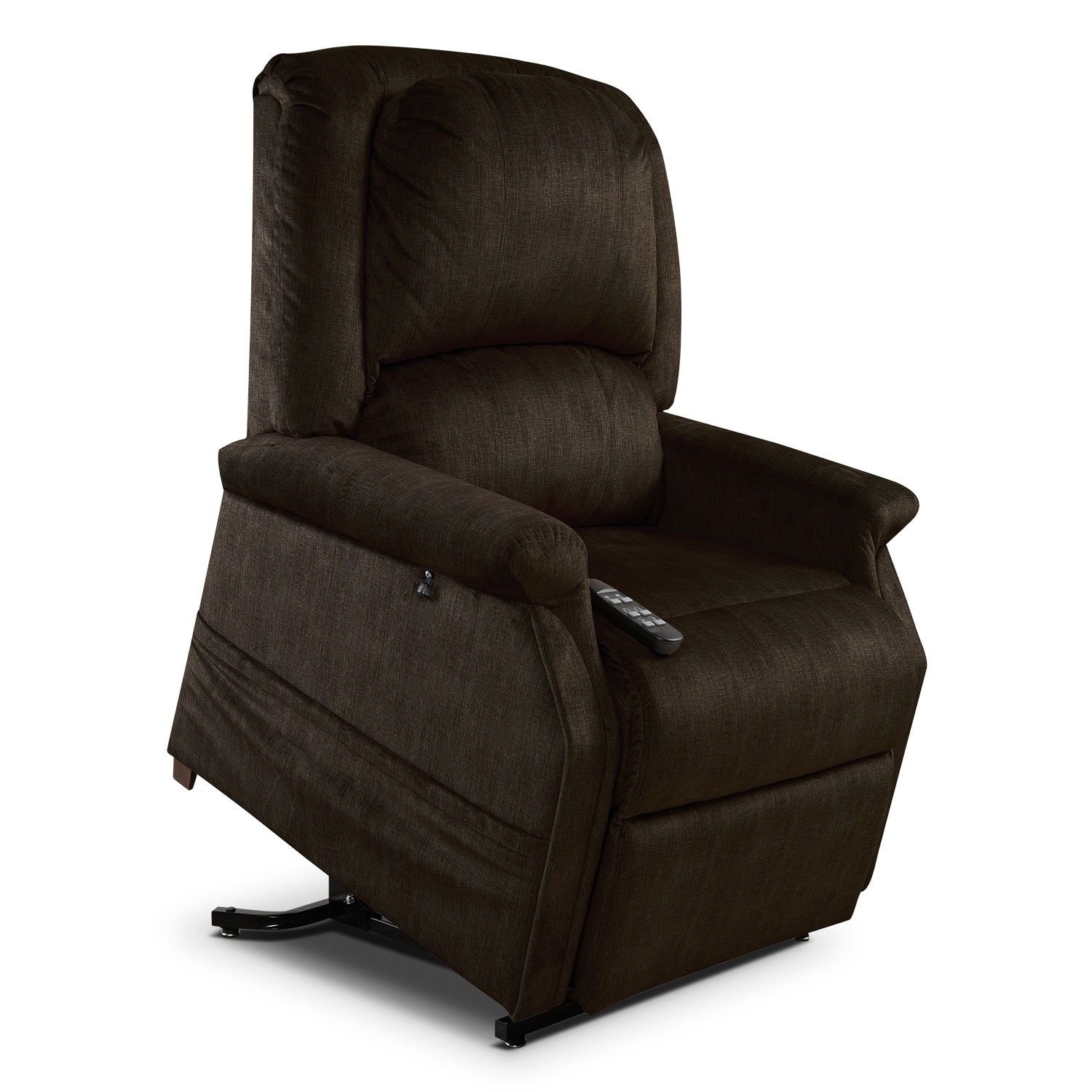 Living Room Furniture - Manny Lift Chair - Chocolate