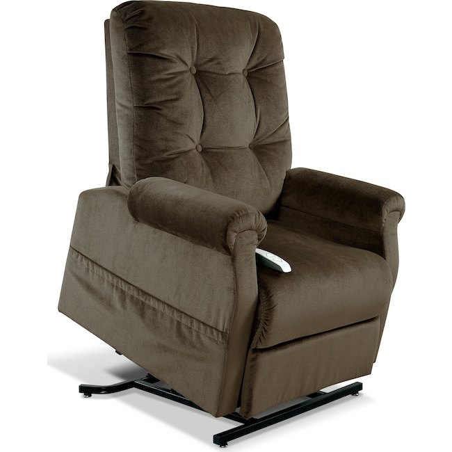 Living Room Furniture - Elmer Lift Chair - Chocolate