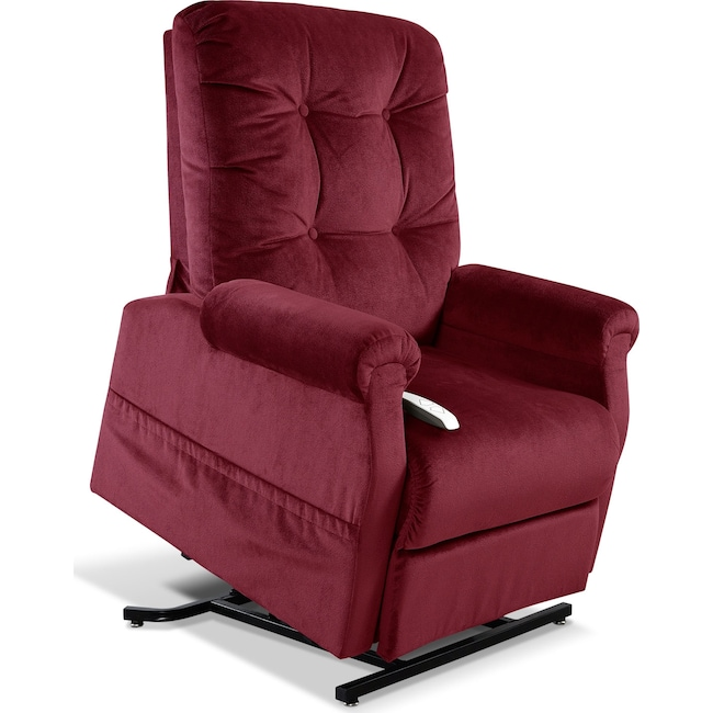 Living Room Furniture - Elmer Lift Chair - Wine