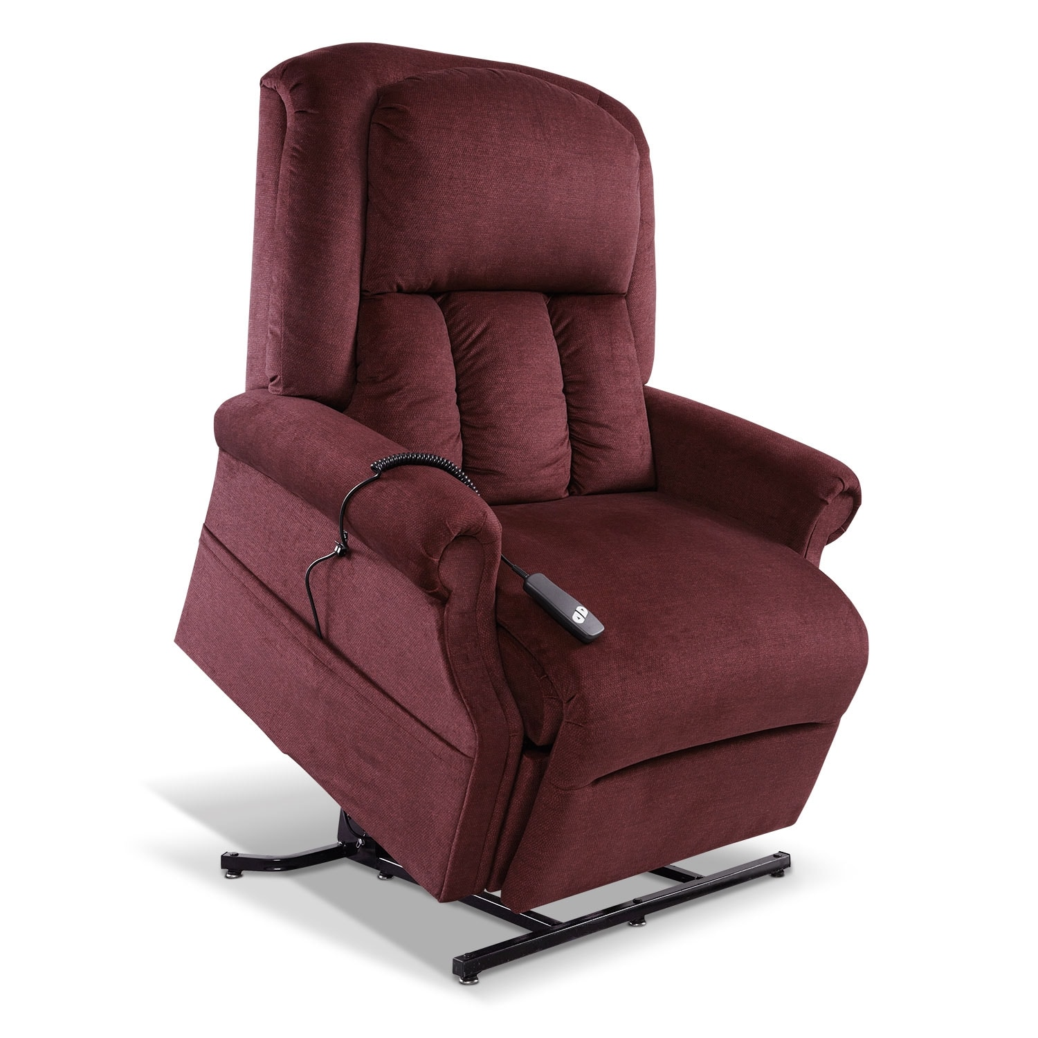 Living Room Furniture - Carol Lift Chair - Bordeaux