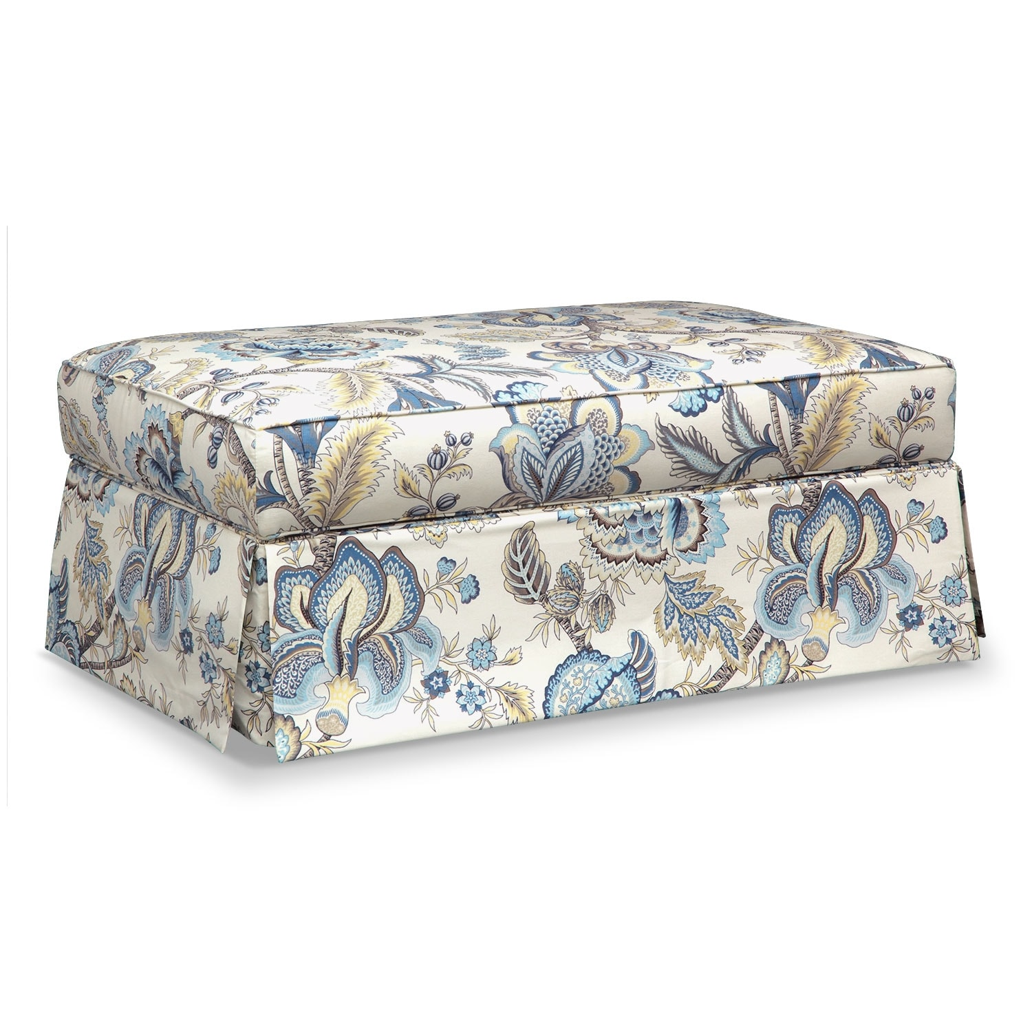 Living Room Furniture - Charlotte III Storage Ottoman