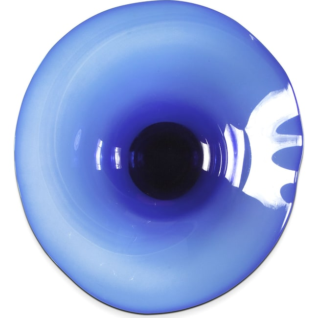 "Home Accessories - Clear Cobalt Blue 19"" Wall Décor"