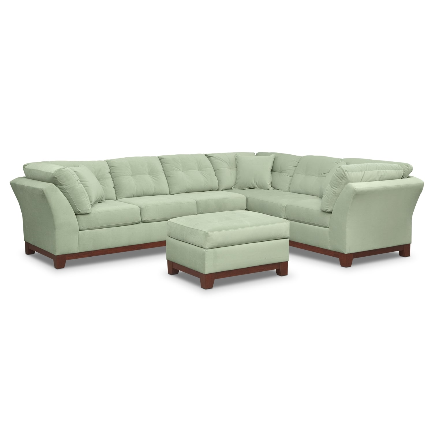 Solace Spa II 2 Pc. Sectional (Reverse) and Ottoman