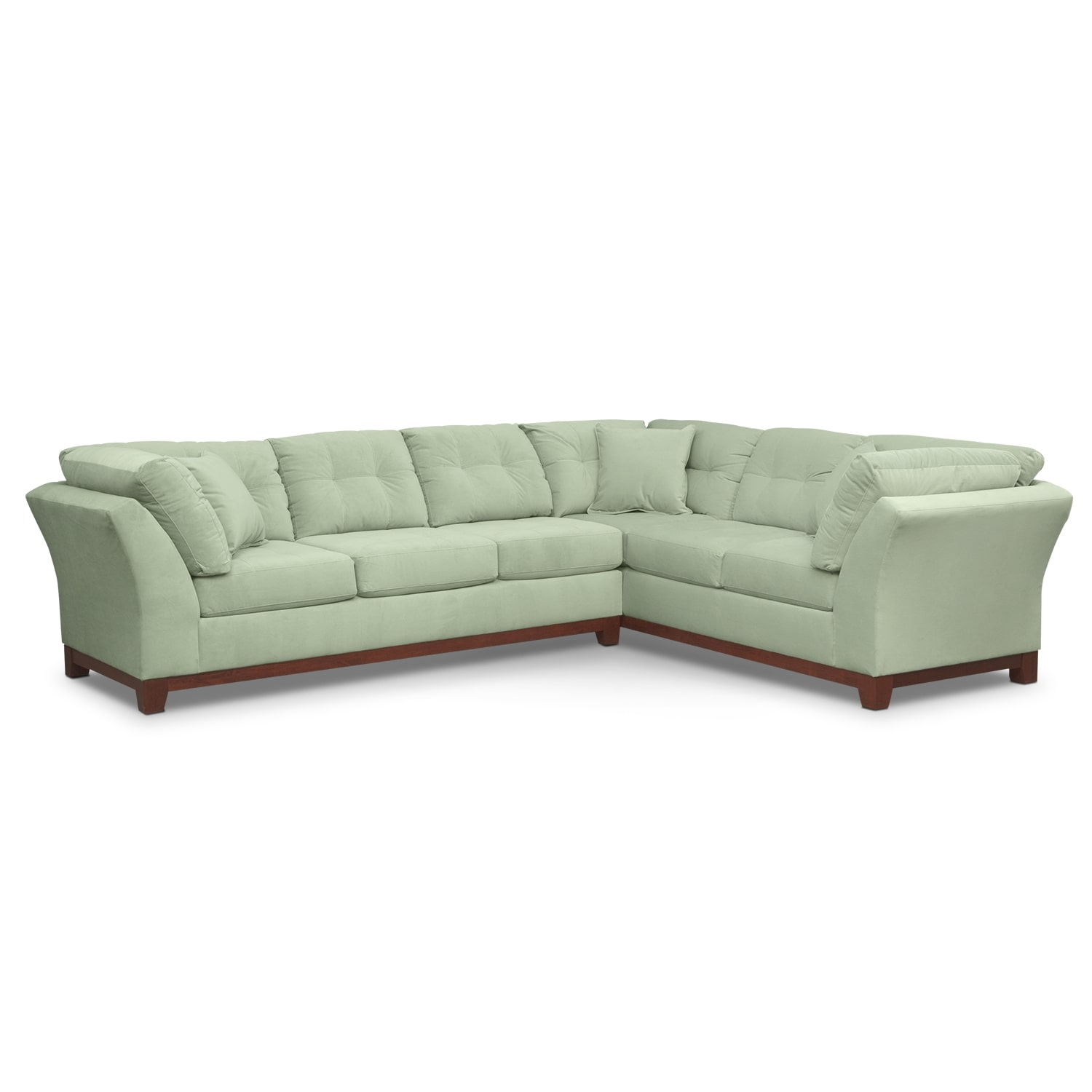 Living Room Furniture - Solace Spa II 2 Pc. Sectional (Reverse)