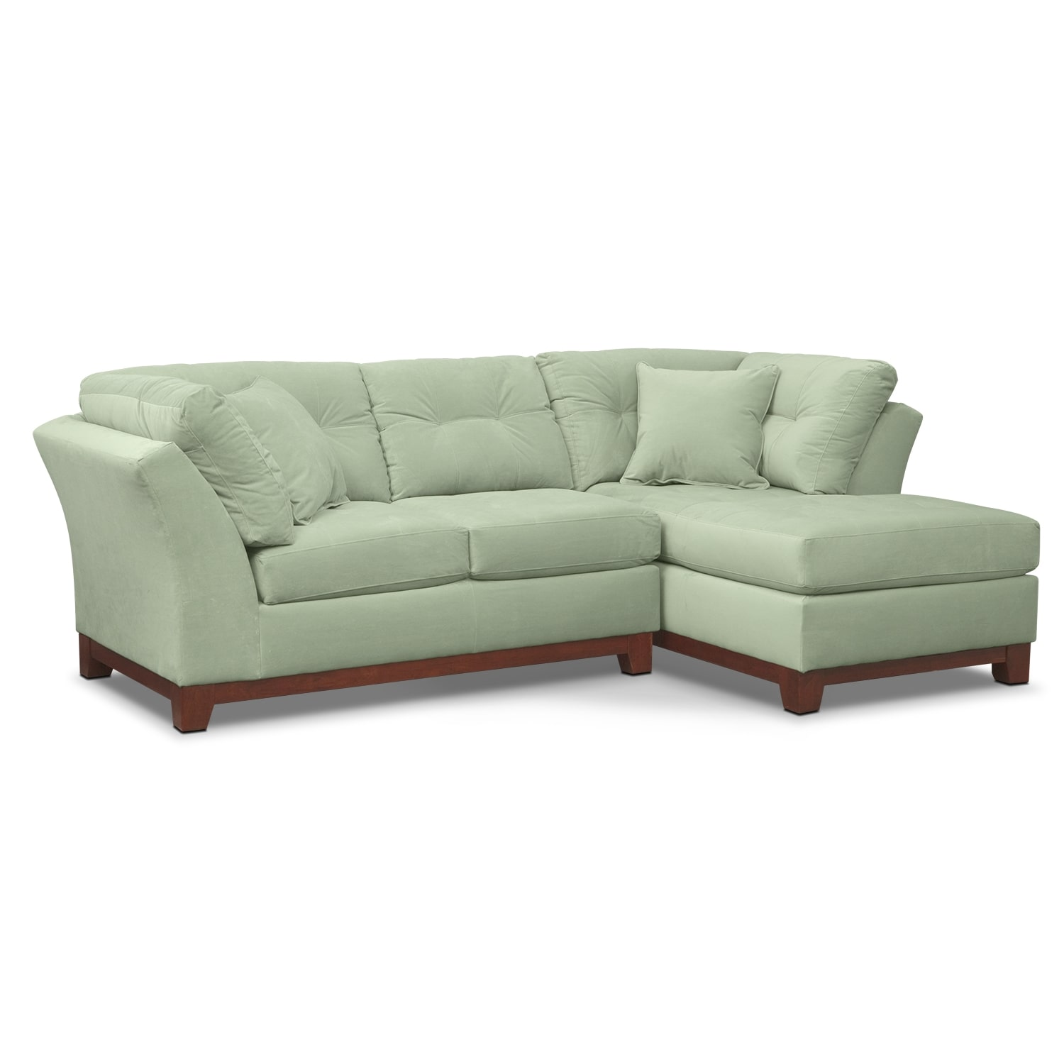 Solace 2-Piece Right-Facing Chaise Sectional - Spa