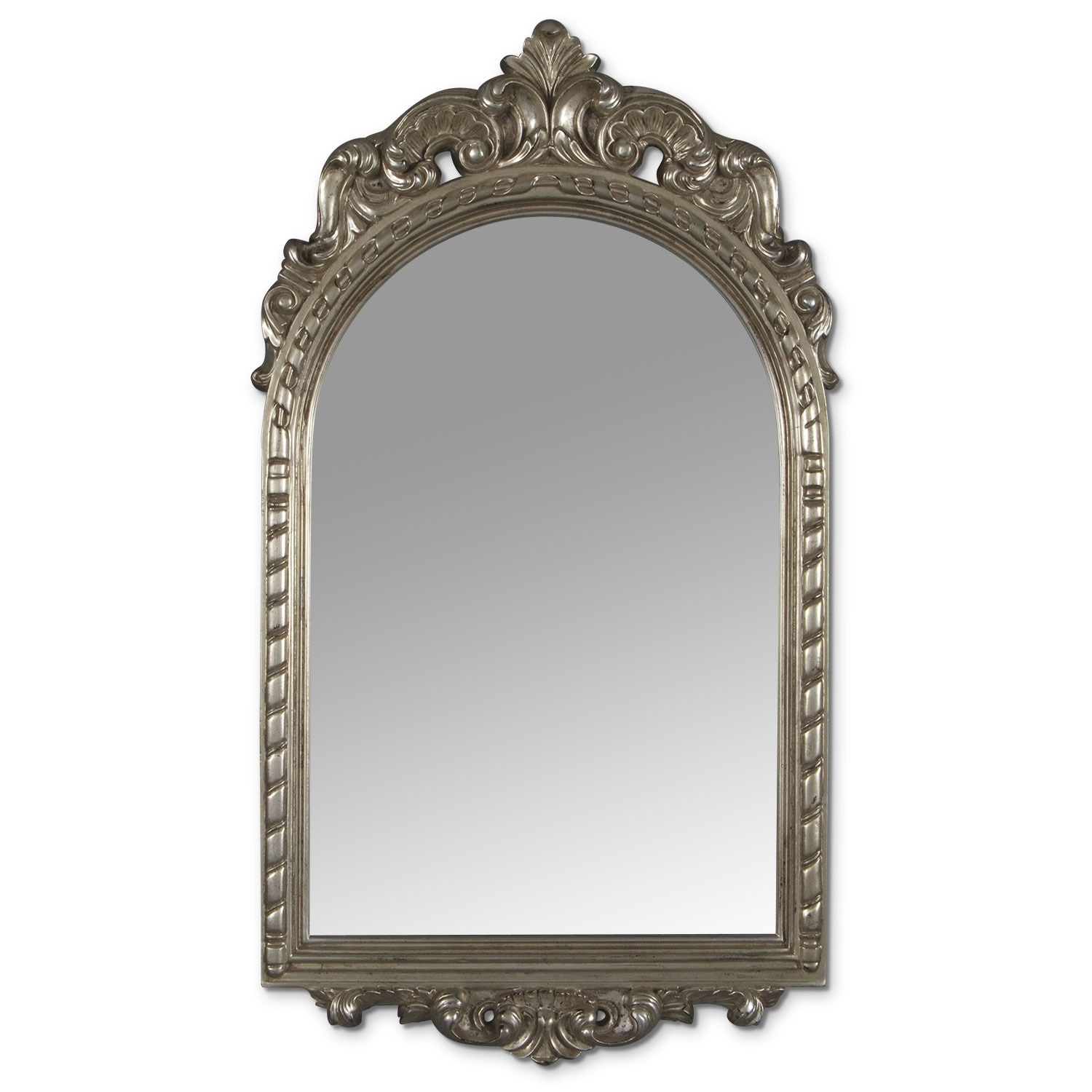 Accent and Occasional Furniture - Kelsey Mirror - Antique Silver