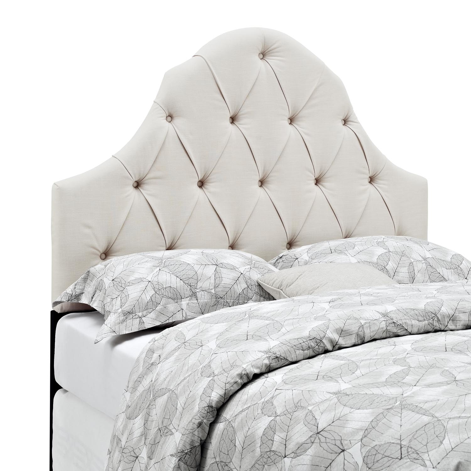 Bedroom Furniture - Castle Peak Full/Queen Headboard - Linen