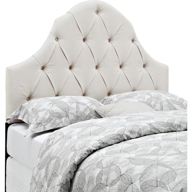 Bedroom Furniture - Castle Peak Full/Queen Headboard - Linen
