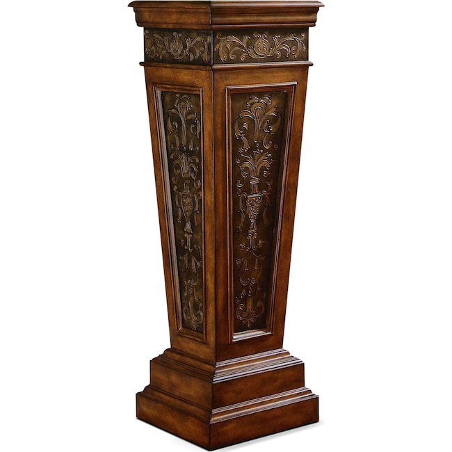 Accent and Occasional Furniture - Standaway Accent Pedestal - Dark Brown