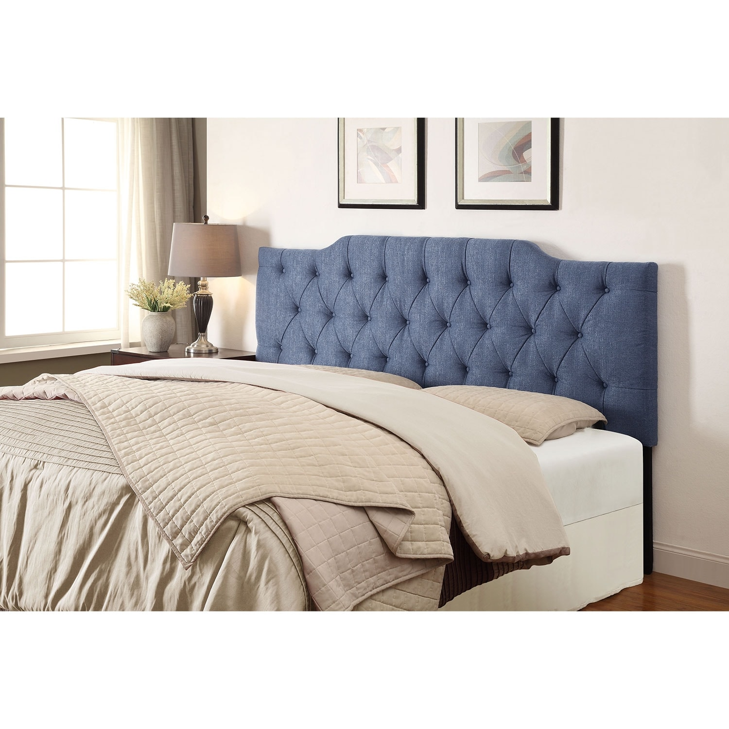 Smith Full/Queen Headboard - Denim