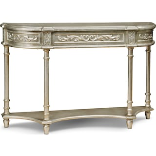 Athens Sofa Table - Silver Leaf