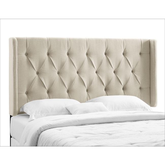 Bedroom Furniture - Winston Cream King/California King Headboard