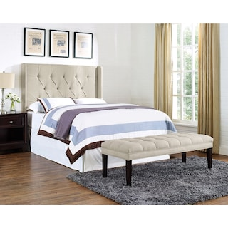 Wynne Queen Upholstered Bed - Cream