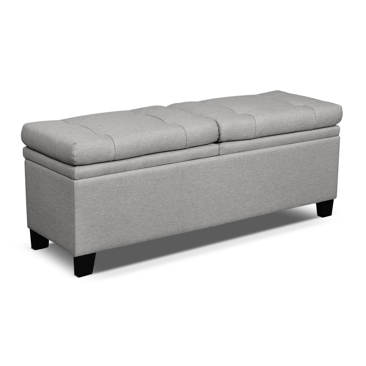 Bedroom Furniture - Bella Marmor Storage Bench - Gray