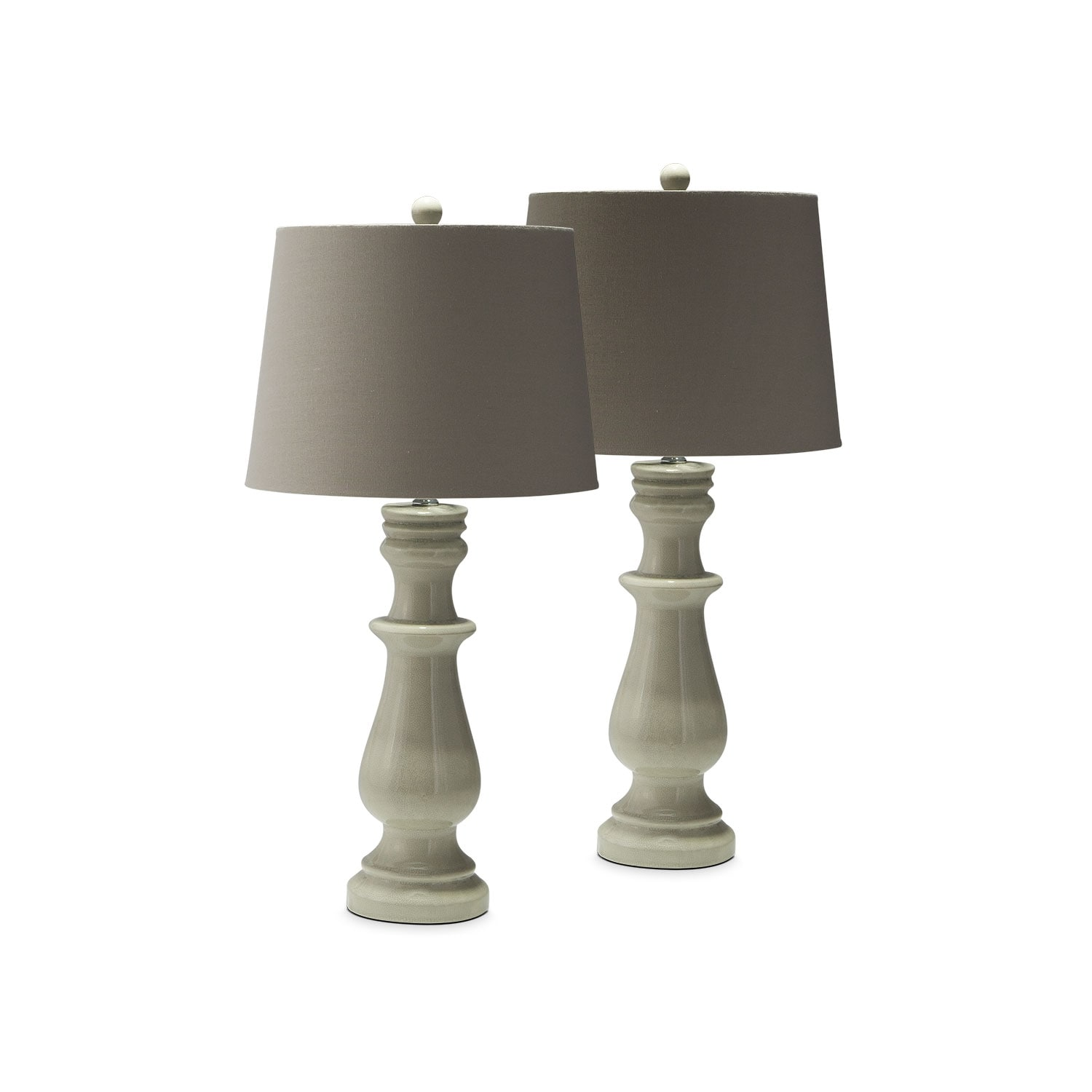 Ivory Ceramic 2-Pack Table Lamp Set