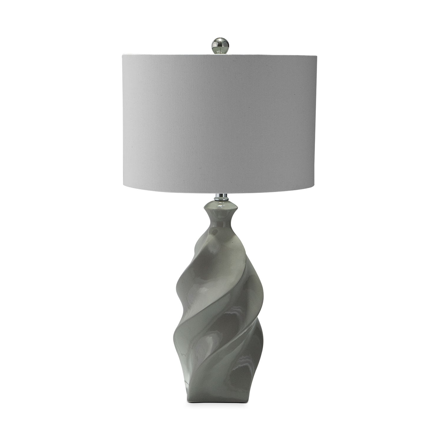 Home Accessories - Gray Ceramic Table Lamp