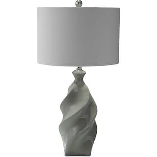 Gray Ceramic Table Lamp