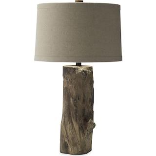 Faux Wood Stump Table Lamp