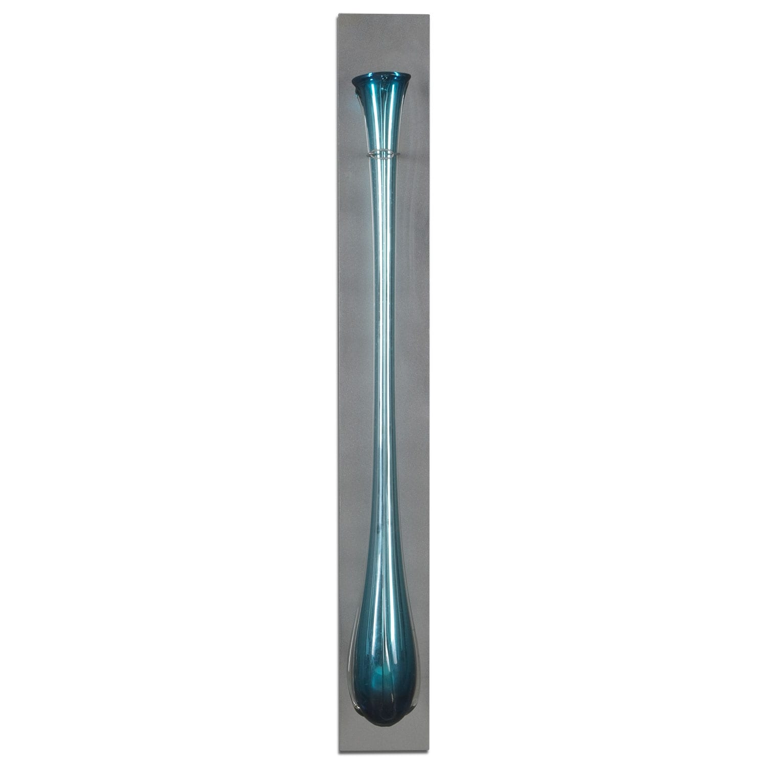 Turquoise Glass Flute Wall Décor