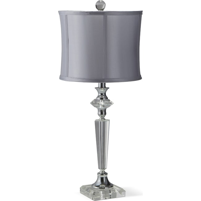 Home Accessories - Crystal Silver Table Lamp
