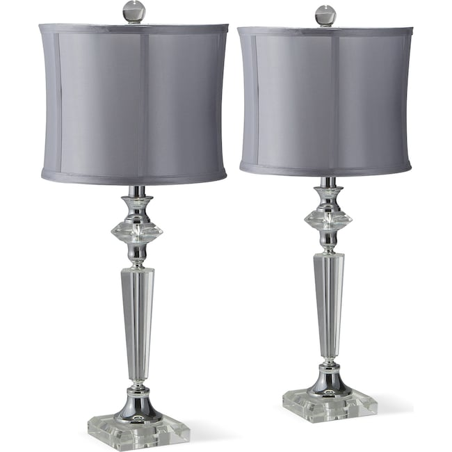 Home Accessories - Crystal Silver 2-Pack Table Lamp Set