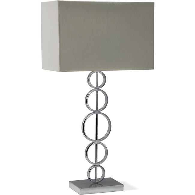 Home Accessories - Chrome Circle Table Lamp