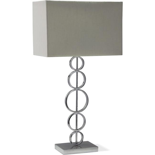 Chrome circle table lamp american signature furniture home accessories chrome circle table lamp aloadofball Images