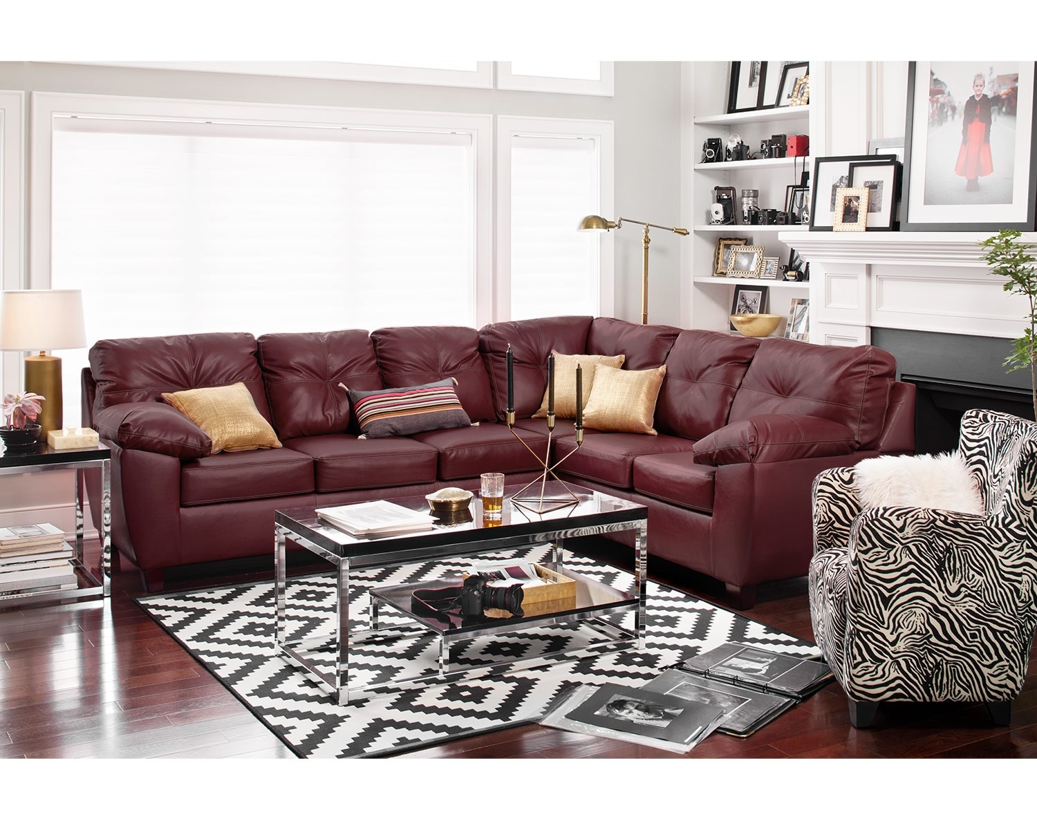 The Rialto Cardinal Sectional Living Room