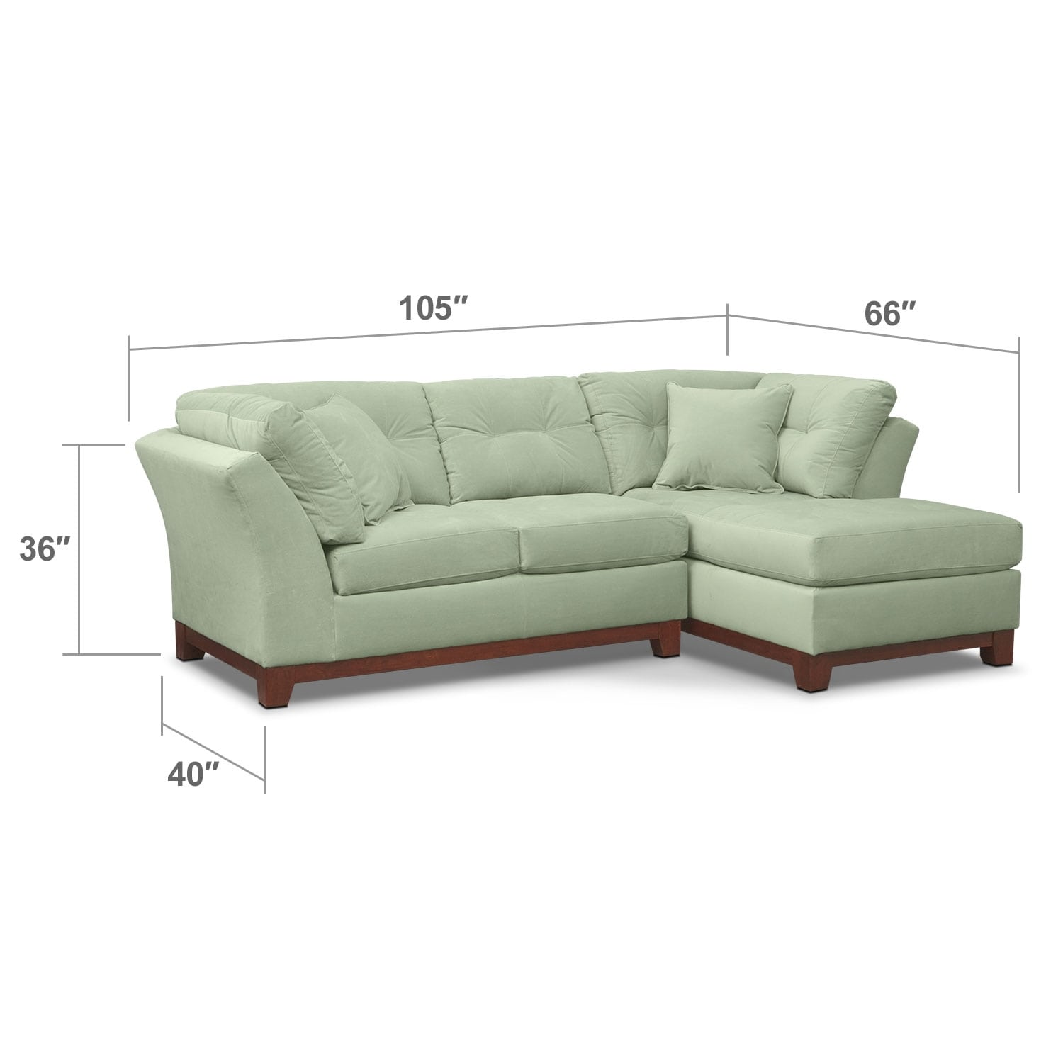 Living Room Furniture - Solace Spa II 2 Pc. Sectional (Alternate Reverse)