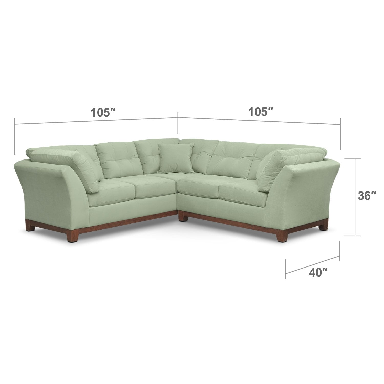 Living Room Furniture - Solace Spa II 2 Pc. Sectional (Alternate II Reverse)