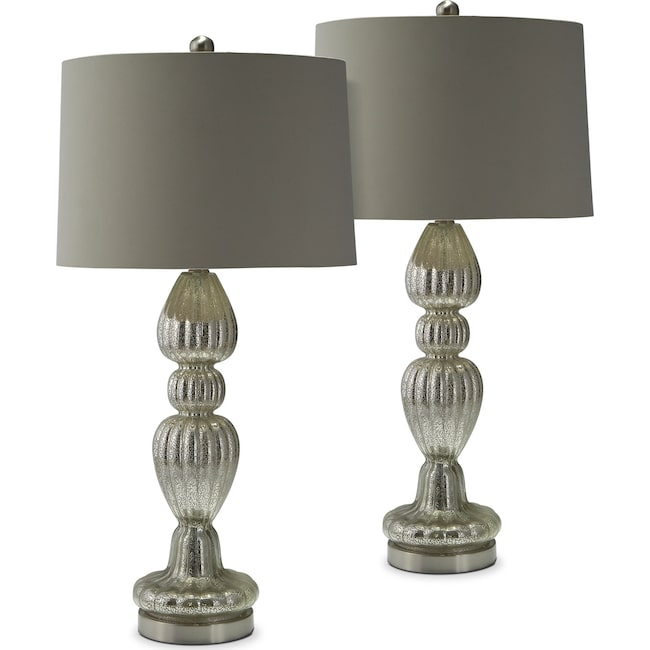 Home Accessories - Scalloped 2-Pack Table Lamp Set