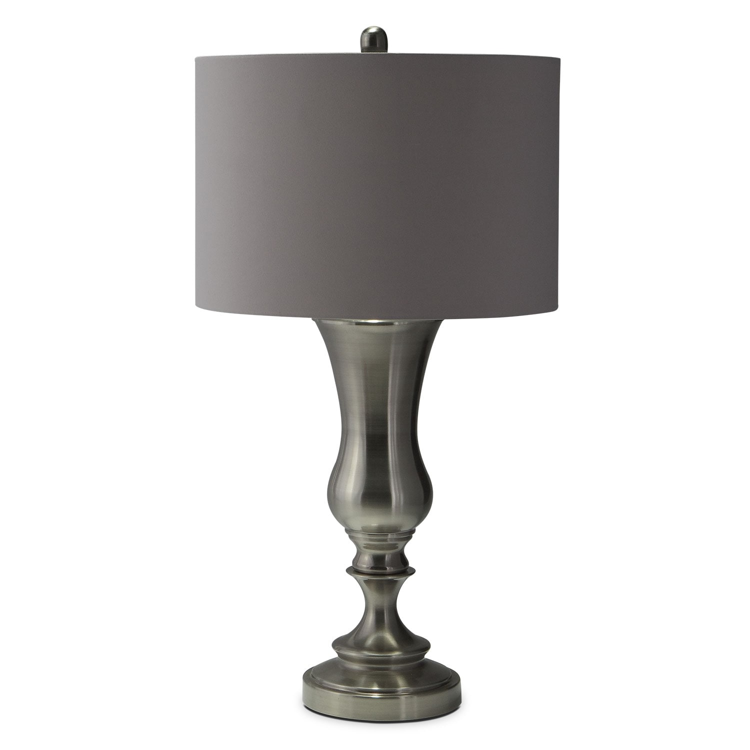 Home Accessories - Brush Coal Urn Table Lamp