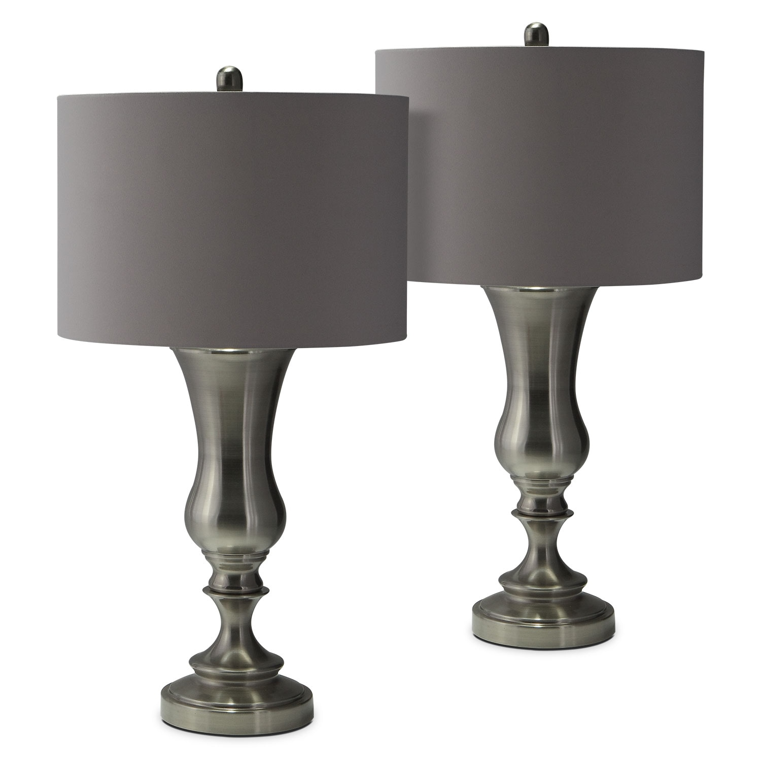 Brush Coal Urn 2-Pack Table Lamp Set