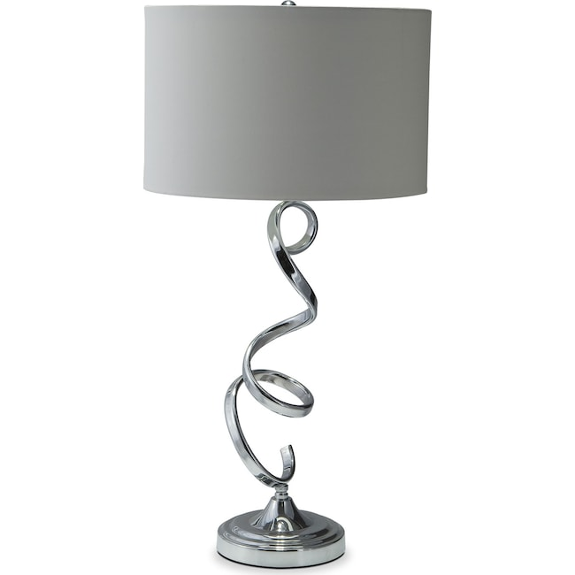 Home Accessories - Nickel Swirl Table Lamp