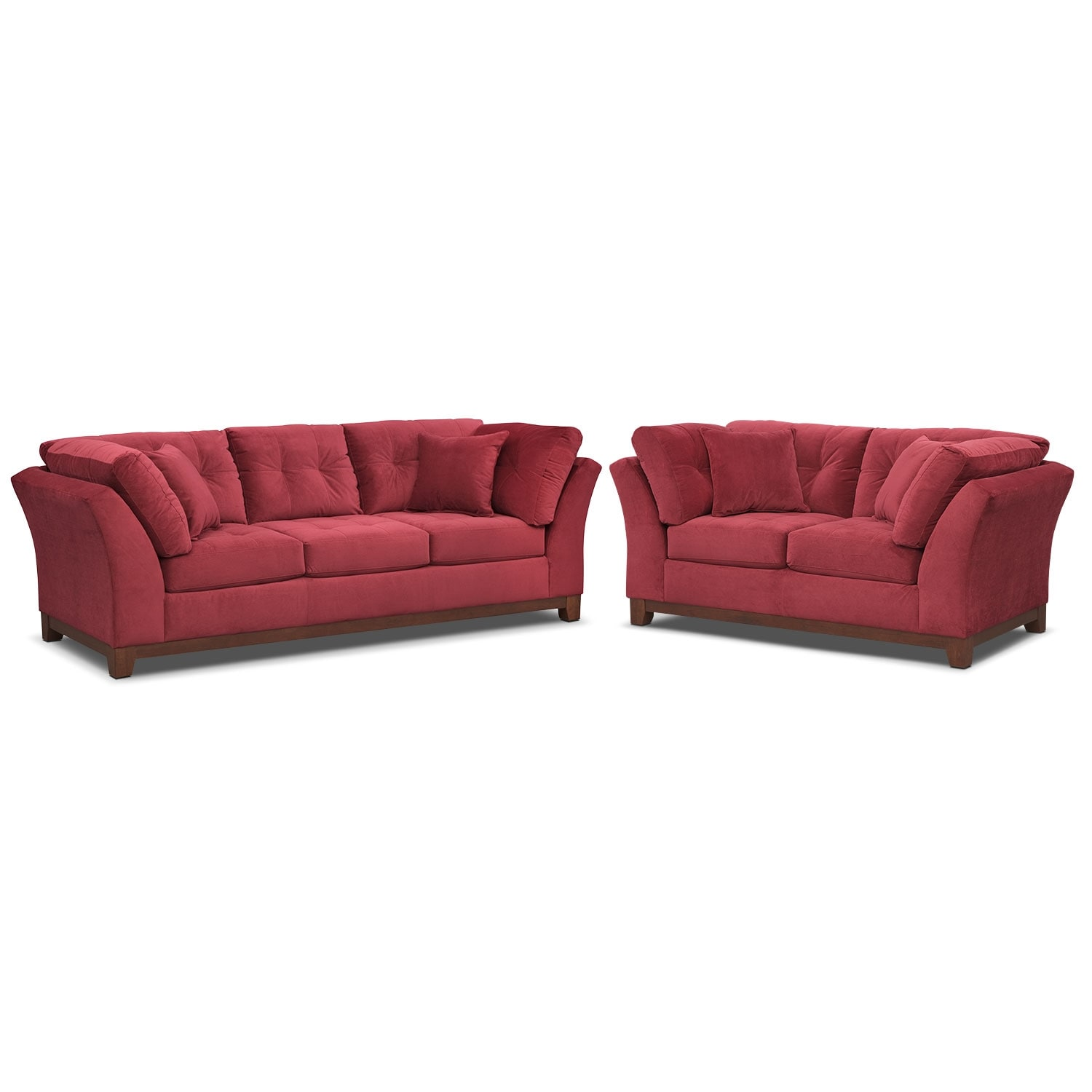 Living Room Furniture - Solace Poppy 2 Pc. Living Room