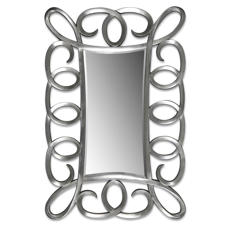 Home Accessories - Carley Floor Mirror - Brushed Steel