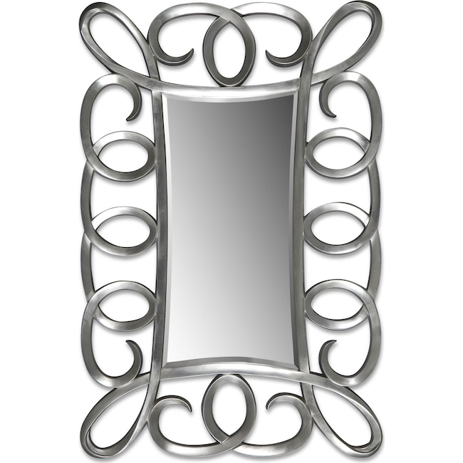 Home Accessories - Carley Floor Mirror - Brushed Steel