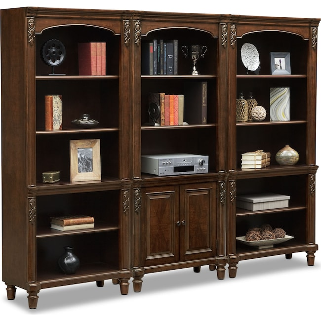 Home Office Furniture - Ashland Wall Bookcase - Cherry