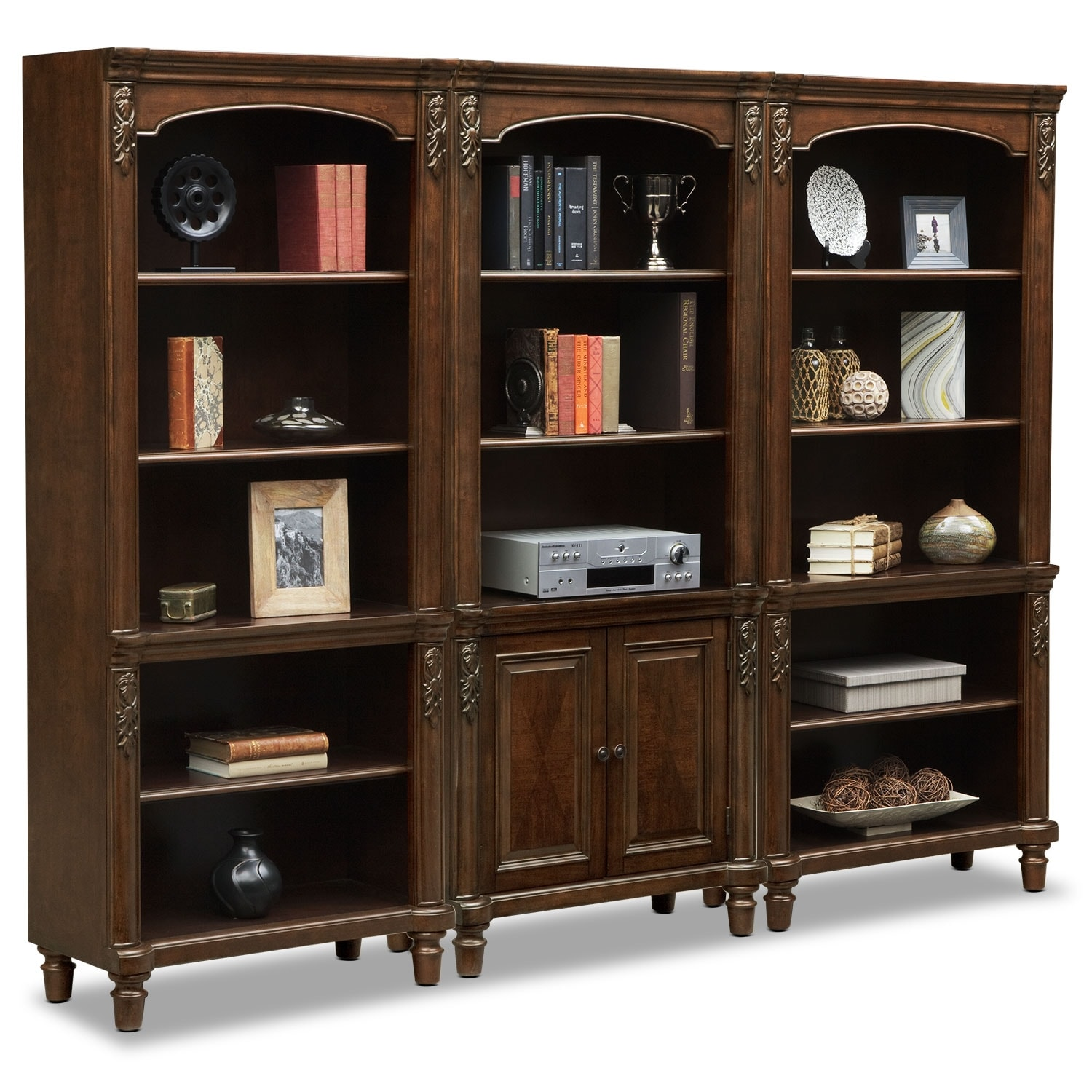 Home Office Furniture   Ashland Wall Bookcase   Cherry