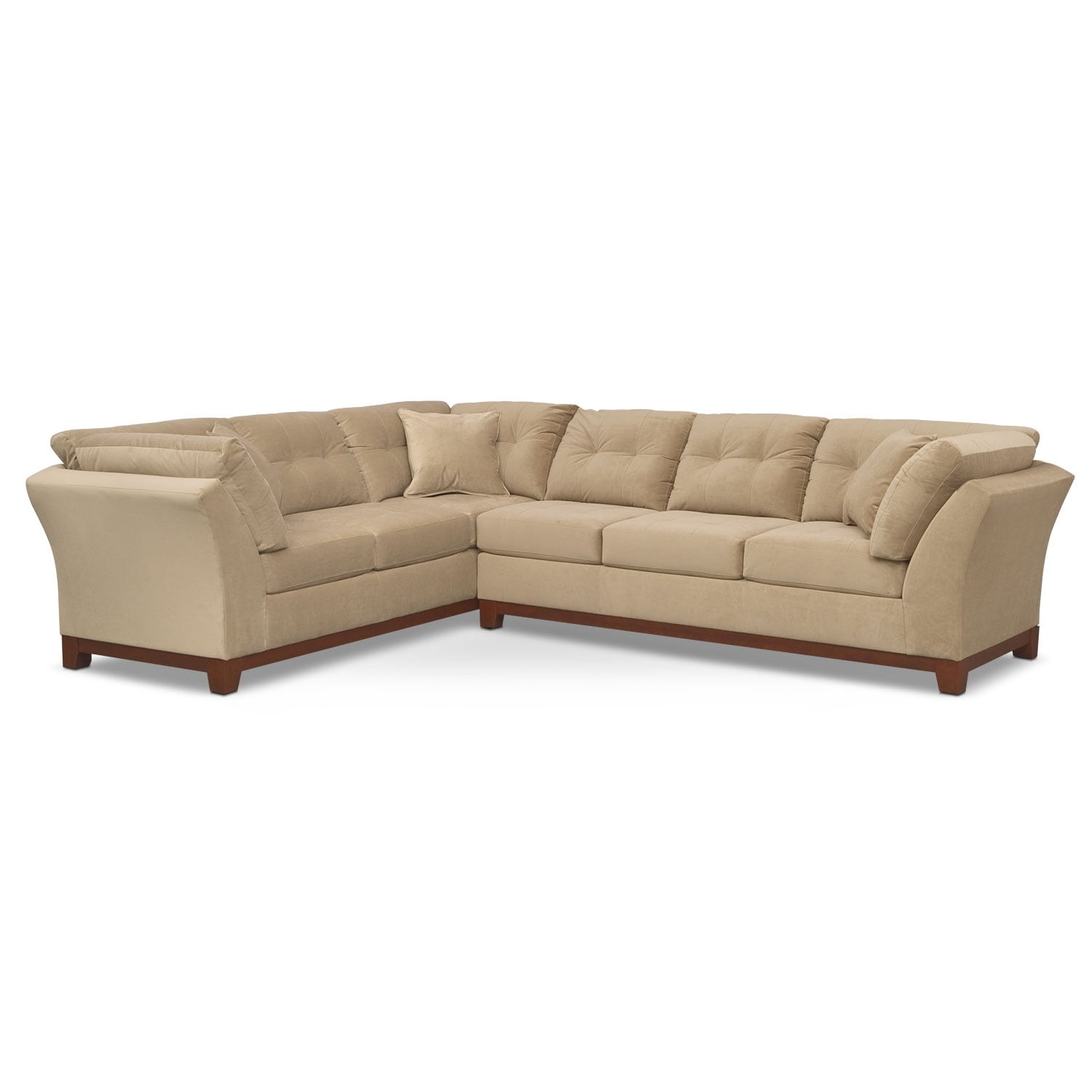 Sebring 2 piece sectional with right facing sofa cocoa for Signature furniture