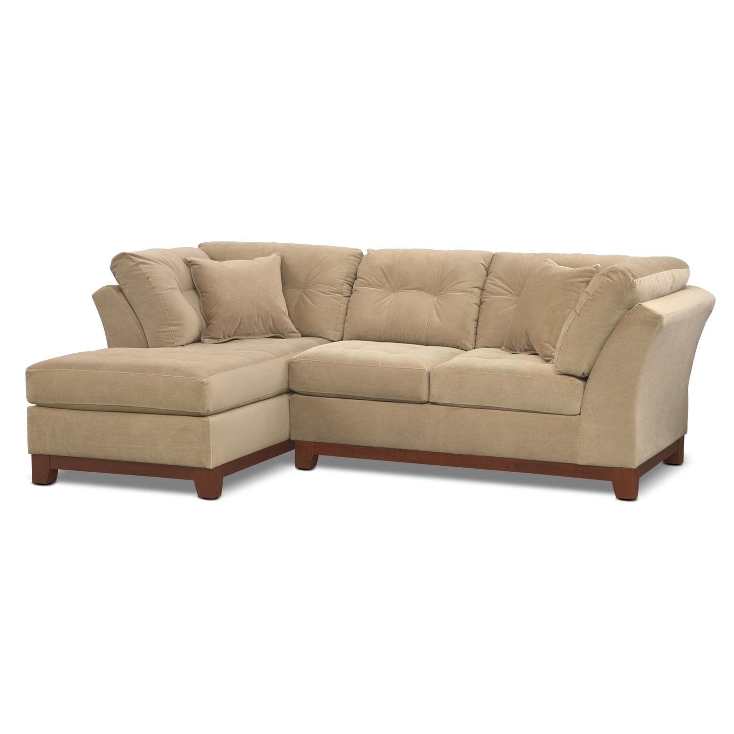 Living Room Furniture - Solace 2-Piece Left-Facing Chaise Sectional - Cocoa