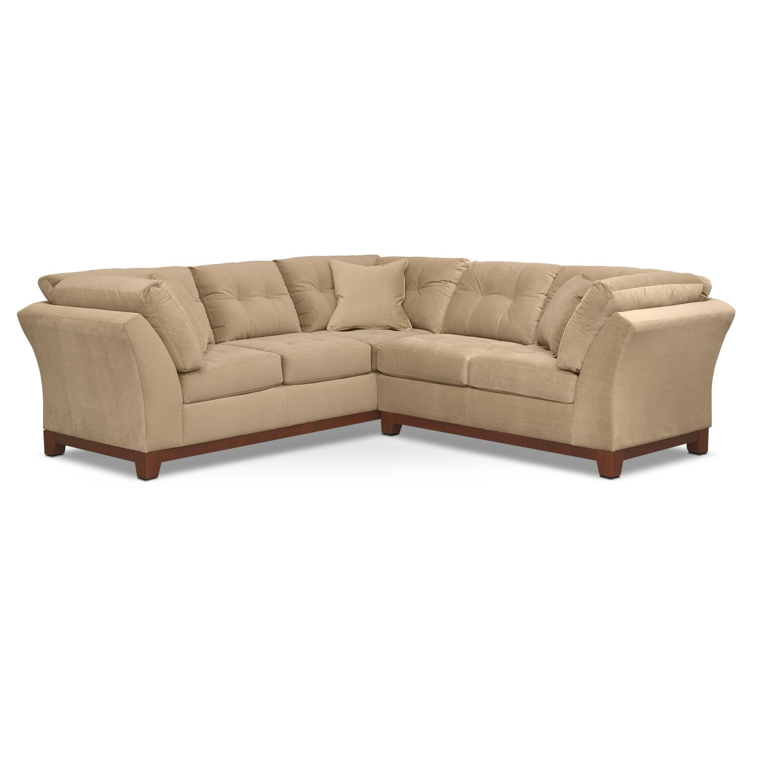 Living Room Furniture - Solace Cocoa II 2 Pc. Sectional (Alternate II Reverse)