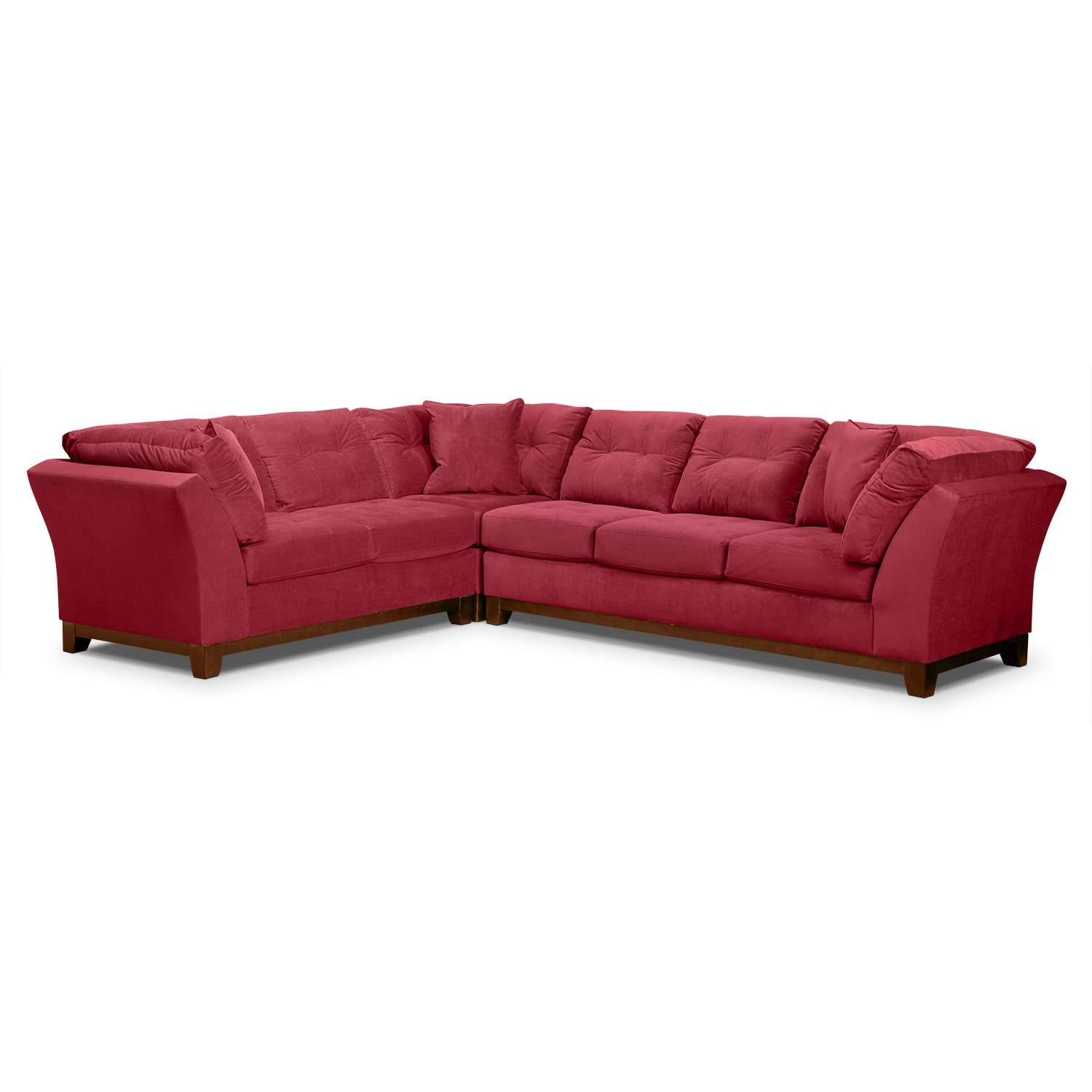 Living Room Furniture - Solace Poppy II 3 Pc. Sectional