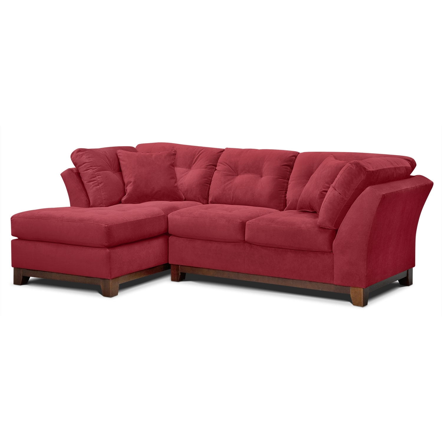 Living Room Furniture - Solace 2-Piece Sectional with Left-Facing Chaise - Poppy