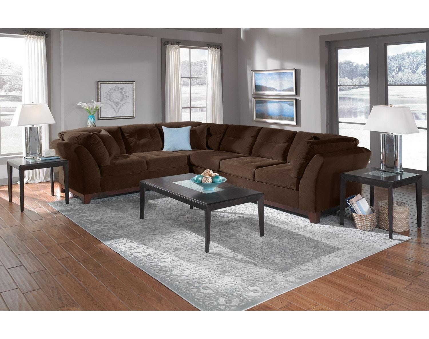 The Solace Sectional Collection - Chocolate