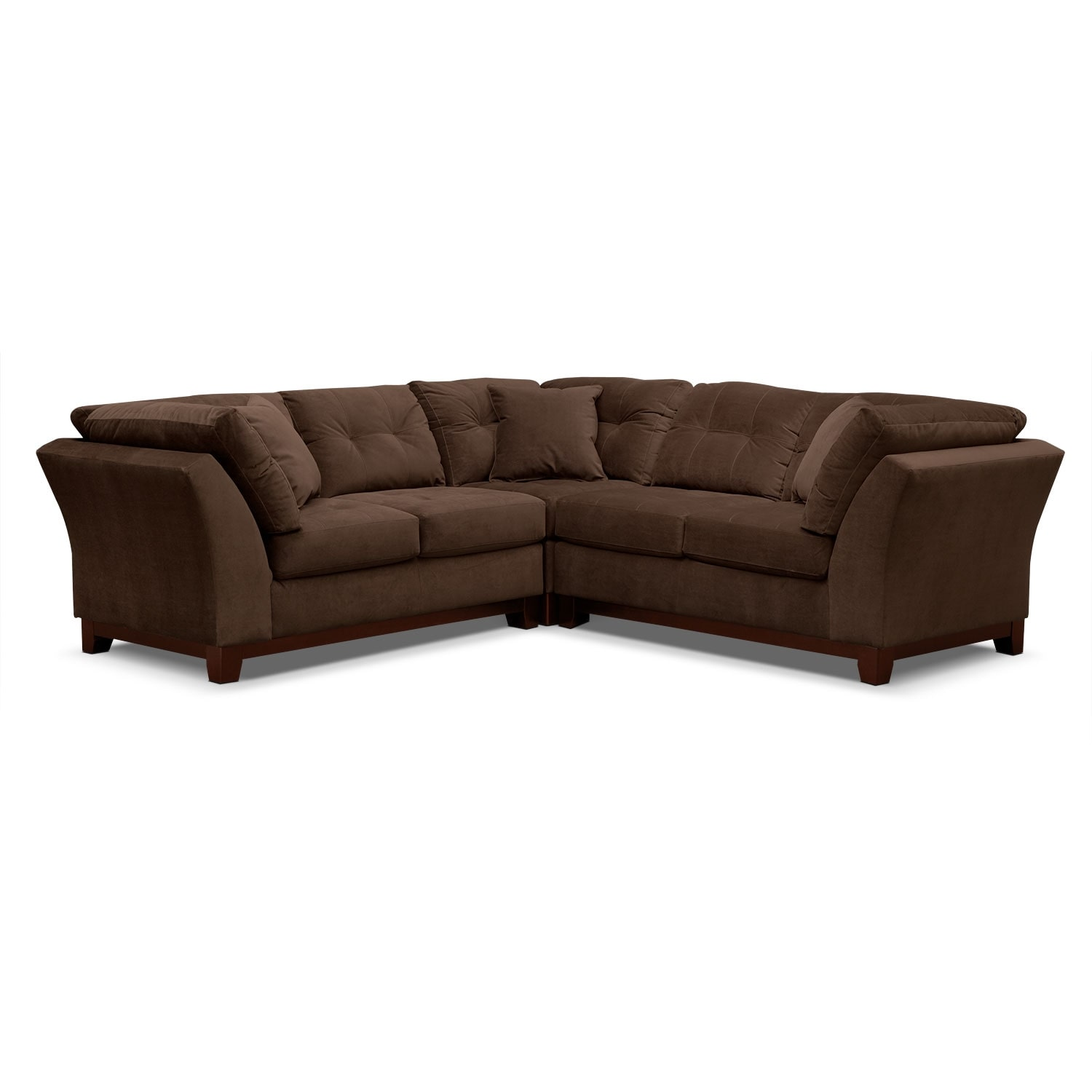Solace 3-Piece Sectional - Chocolate