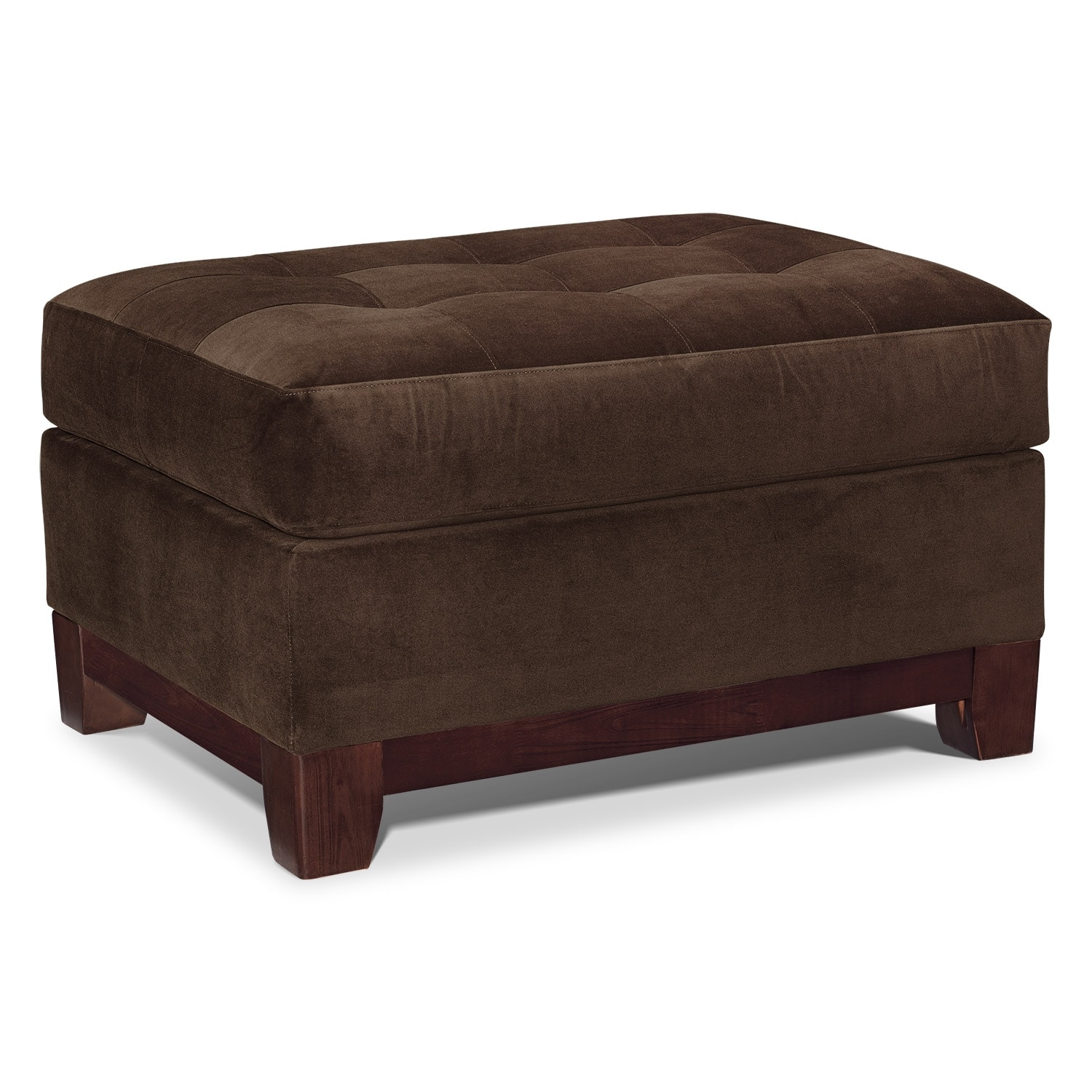Solace Chocolate Ottoman