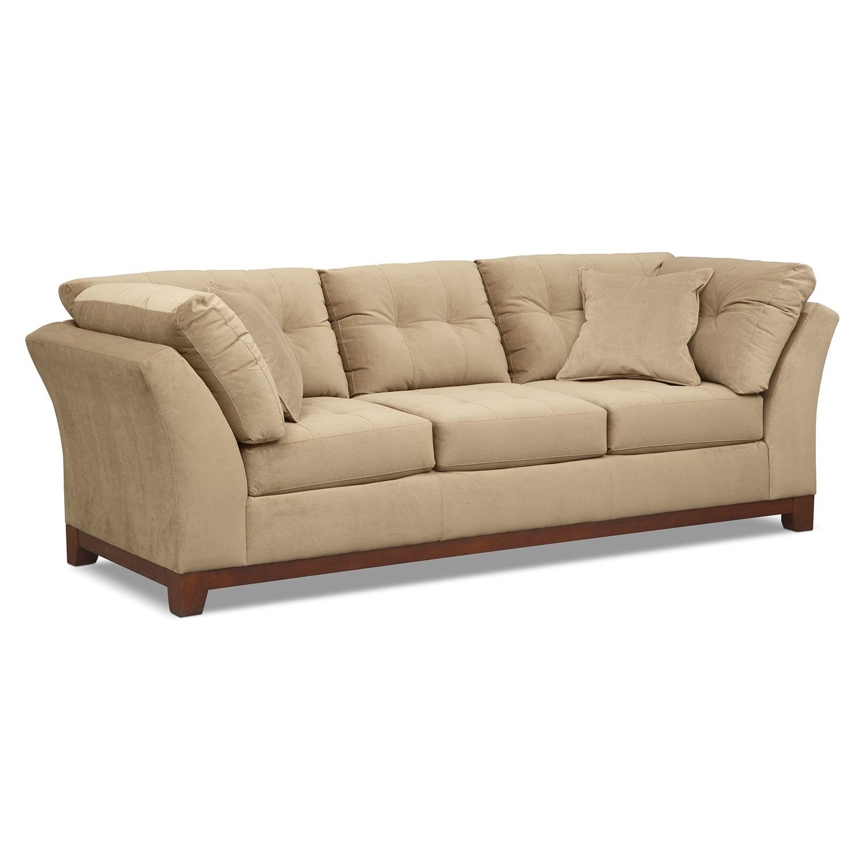 Living Room Furniture - Solace Cocoa Sofa